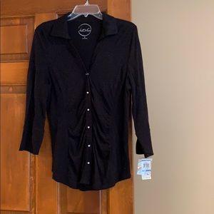 INC long sleeve cotton shirt with diamond buttons